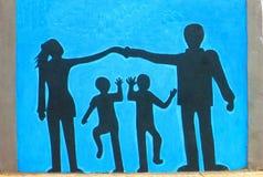 искусство урбанское Семья Стоковое Фото