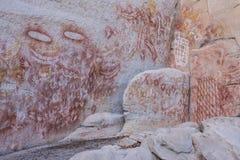Искусство утеса Aboriganal, ущелье Carnarvon Стоковые Изображения RF