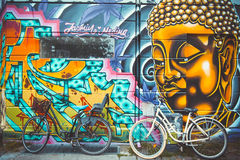 Искусство улицы в Копенгагене Стоковые Фотографии RF