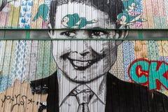 Искусство улицы в Париже, Франции Стоковая Фотография RF