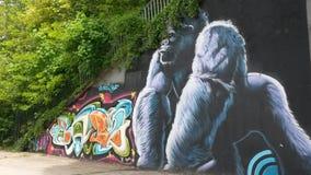 Искусство улицы в парижском пригороде Стоковое Изображение