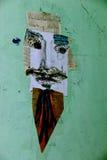 Искусство улицы - граффити как Сальвадор Dali - в центре Москвы Стоковое фото RF