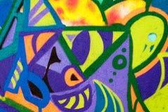 Искусство улицы - граффити на стене Стоковые Фото