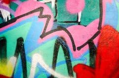 Искусство улицы - граффити Стоковое фото RF
