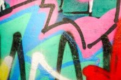 Искусство улицы - граффити Стоковая Фотография RF