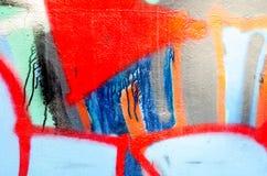 Искусство улицы - граффити Стоковое Изображение