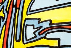 Искусство улицы - граффити Стоковое Фото