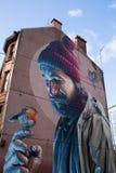 Искусство улицы, Глазго, Шотландия, Великобритания Стоковая Фотография RF