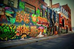 Искусство улицы Монреаля, улица Свят-Элизабета, MTL Стоковое фото RF