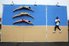 Искусство улицы на новых стенах искусства кролика привлекательности искусства улицы на разделе острова кролика в Бруклине Стоковое фото RF