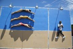 Искусство улицы на стенах искусства кролика в разделе острова кролика Бруклина Стоковое Изображение