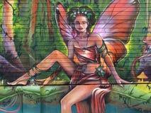 Искусство улицы на mahault baie в французских Вест-Индиях Стоковое Фото