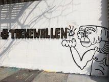 Искусство улицы TheNewWallen Нью-Йорка стоковое изображение rf