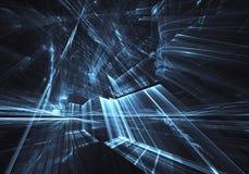 Искусство фрактали - изображение компьютера, технологическая предпосылка Стоковая Фотография