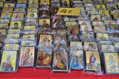 Искусство христианских значков религиозное Стоковое фото RF
