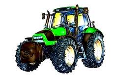 Искусство цвета иллюстрации аграрного трактора бесплатная иллюстрация