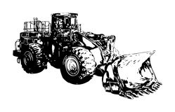 Искусство цвета иллюстрации Buldozer бесплатная иллюстрация