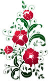 искусство цветет красный цвет Стоковое Фото