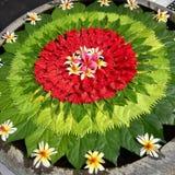 Искусство цветка Бали Стоковые Изображения