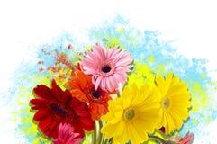 Искусство цветков стоковые изображения