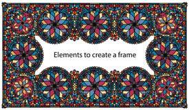 Искусство цветного стекла рамки Стоковые Изображения