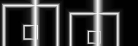 Искусство цифров, абстрактные трехмерные объекты с мягким освещением Альфредом Georg Sonsalla, Германией Стоковые Изображения RF