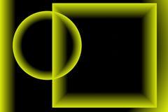 Искусство цифров, абстрактные трехмерные объекты с мягким освещением Альфредом Georg Sonsalla, Германией Стоковые Фотографии RF