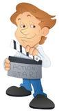 Директор кино - персонаж из мультфильма - иллюстрация вектора Стоковые Фотографии RF