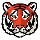 Искусство чертежа контура тигра стороны Стоковое фото RF