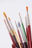 искусство чистит инструменты щеткой Стоковая Фотография RF