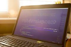 Искусство ASCII фразы развития сети внутри реального кода HTML Стоковые Изображения RF
