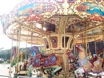 Искусство Carousel винтажное красочное стоковое фото