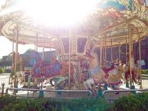 Искусство Carousel винтажное красочное стоковое фото rf