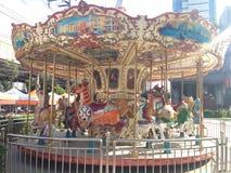 Искусство Carousel винтажное красочное стоковые фото