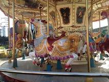 Искусство Carousel винтажное красочное стоковое изображение