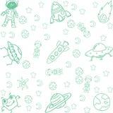 Искусство Doodle космоса Стоковое Изображение RF