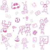 Искусство doodle подростка Стоковые Изображения