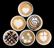 Искусство Latte в кружке Стоковые Фото