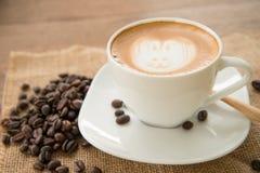 Искусство latte кофе Стоковое фото RF