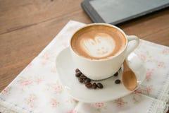 Искусство latte кофе Стоковая Фотография