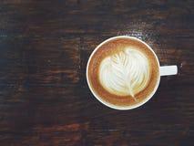 Искусство latte кофе Стоковое Фото