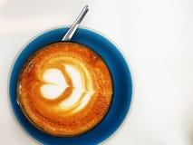 Искусство latte кофе Стоковая Фотография RF