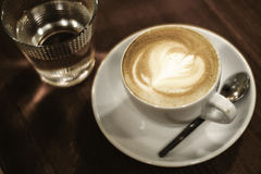Искусство latte Coffe стоковые фотографии rf