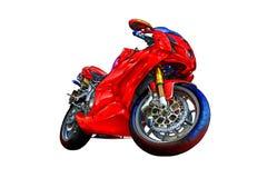 Искусство llustration мотоцикла изолированное цветом иллюстрация вектора