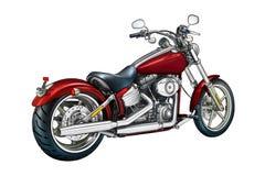 Искусство llustration мотоцикла изолированное цветом бесплатная иллюстрация