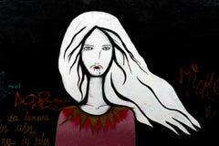 Искусство Parisien улицы двадцатого arrondissement иллюстрация штока
