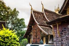 Искусство TMural ремня Wat Xieng, Luang Prabang, Лаоса Стоковые Изображения