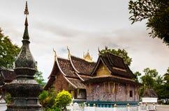 Искусство TMural ремня Wat Xieng, Luang Prabang, Лаоса Стоковая Фотография RF