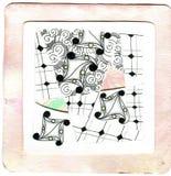 Искусство & Zentangle Стоковое Изображение