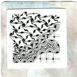 Искусство Zentangle Стоковые Фотографии RF